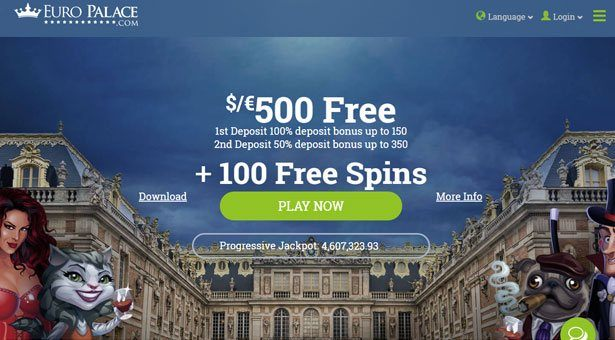 100 Free Spins at Euro Palace Casino