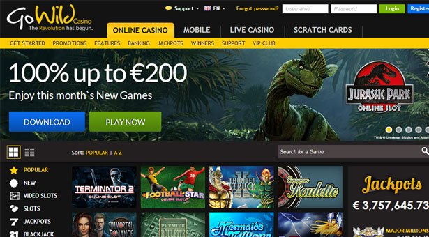 Jurassic Park Slot Launches at Microgaming Casino