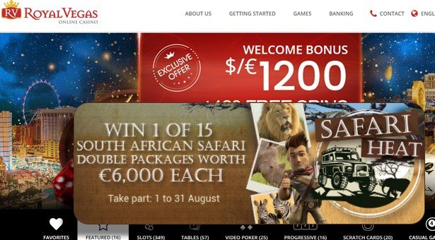 Win Africa Safari at Royal Vegas Casino