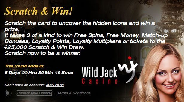 Scratch and Win at Wild Jack Casino