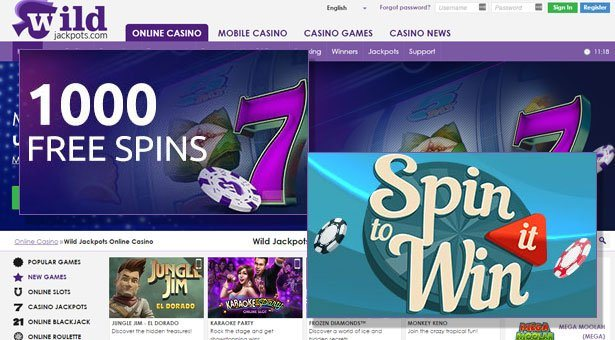 Weekend Mania at Wild Jackpots Casino