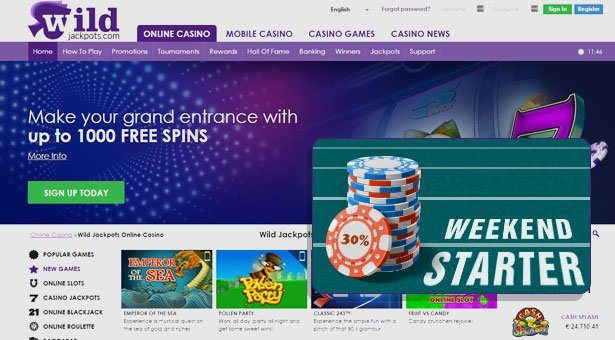 Weekend Action Begins at Wild Jackpot Casino